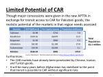 limited potential of car