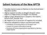 salient features of the new aptta