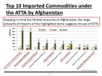 top 10 imported commodities under the atta by afghanistan