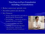 non face to face consultation including e consultations