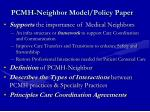 pcmh neighbor model policy paper