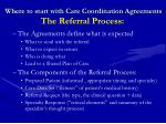 where to start with care coordination agreements the referral process