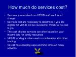 how much do services cost