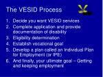 the vesid process