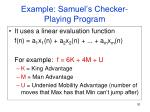 example samuel s checker playing program