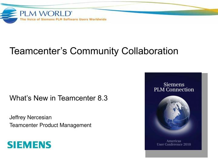 teamcenter s community collaboration n.