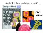 antimicrobial resistance in icu