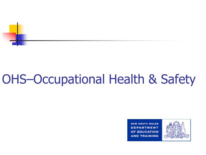 ohs occupational health safety n.
