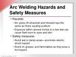 arc welding hazards and safety measures