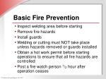 basic fire prevention