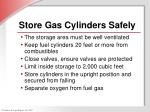store gas cylinders safely