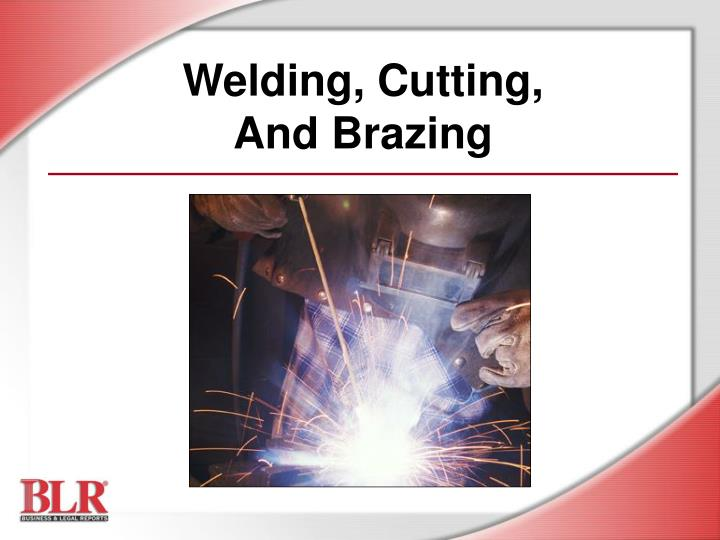 welding cutting and brazing n.