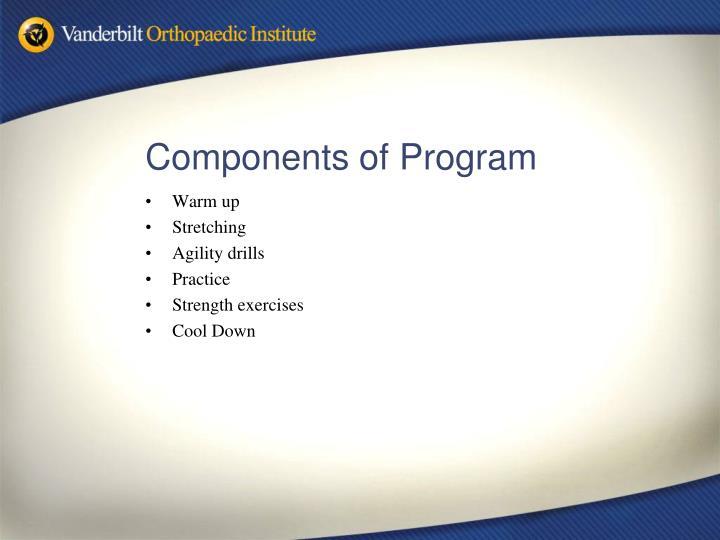 Components of Program