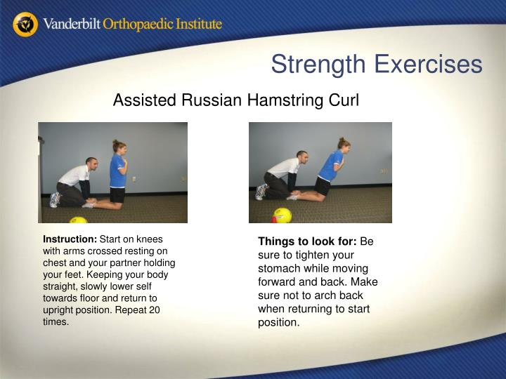 Assisted Russian Hamstring Curl