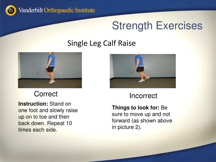 Single Leg Calf Raise