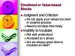 emotional or value based blocks1