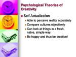 psychological theories of creativity1