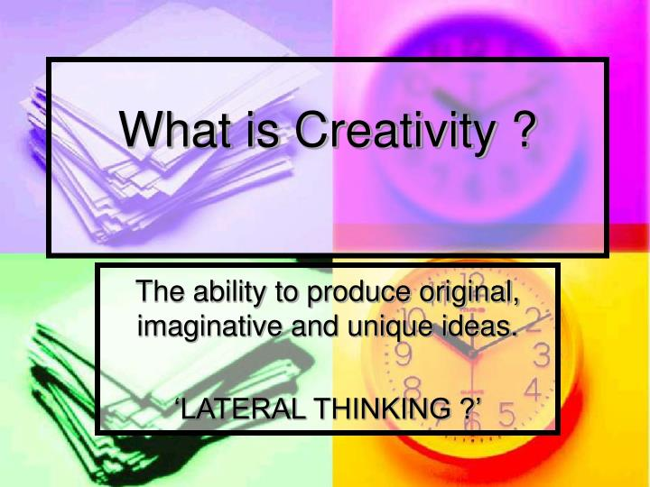 what is creativity n.