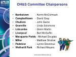 oh s committee chairpersons