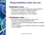 responsibilities under the law