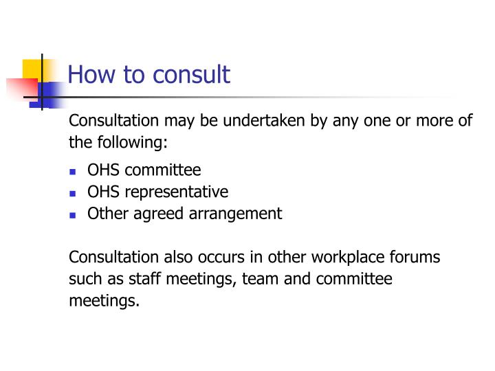 How to consult