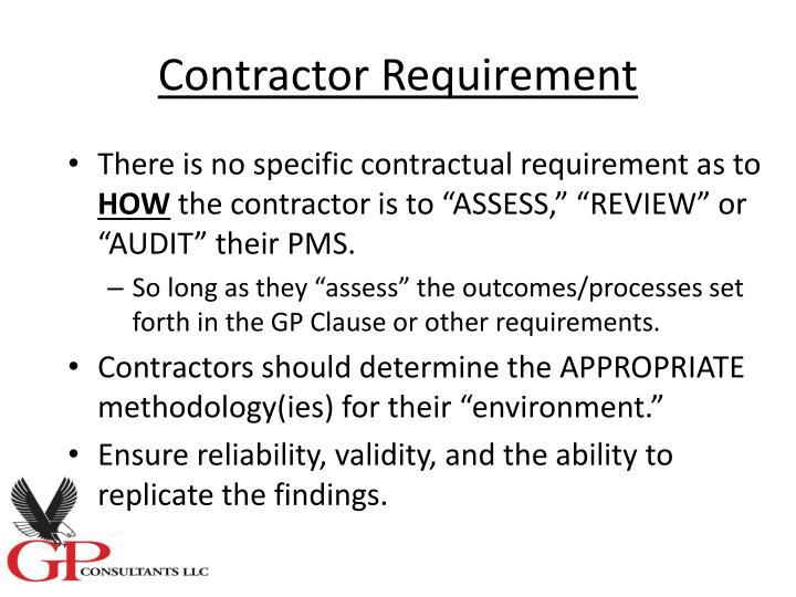 Contractor Requirement