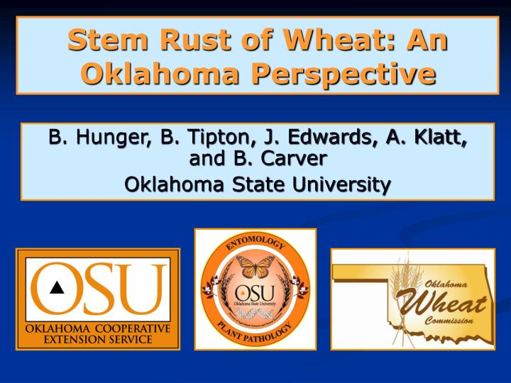 stem rust of wheat an oklahoma perspective n.
