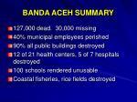 banda aceh summary