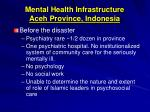 mental health infrastructure aceh province indonesia
