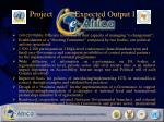 project expected output i