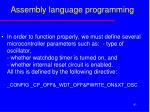 assembly language programming1