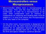microcontrollers versus microprocessors