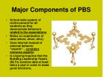 major components of pbs1