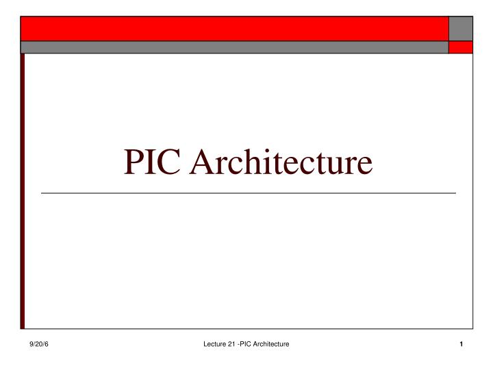 pic architecture n.