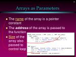 arrays as parameters1