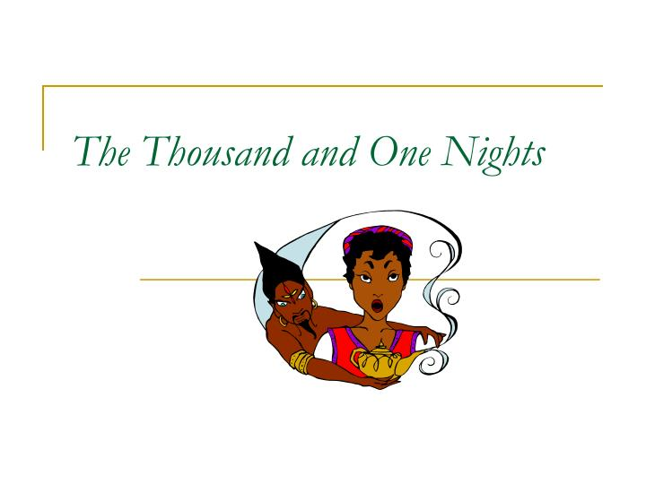 the thousand and one nights n.