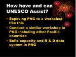 how have and can unesco assist