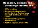 research science and technology institutions