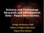 science and technology research and development data papua new guinea