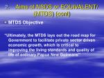2 aims of nsds or equivalent mtds cont1