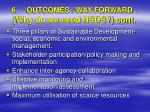 6 outcomes way forward why do we need nsds cont