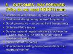 6 outcomes way forward why do we need nsds cont1