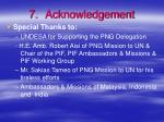 7 acknowledgement