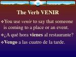 the verb venir