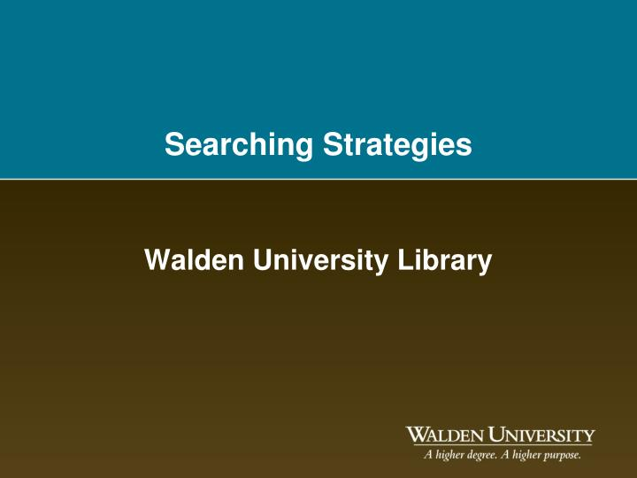 searching strategies n.