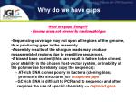 why do we have gaps