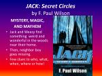 jack secret circles by f paul wilson