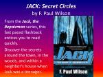 jack secret circles by f paul wilson2