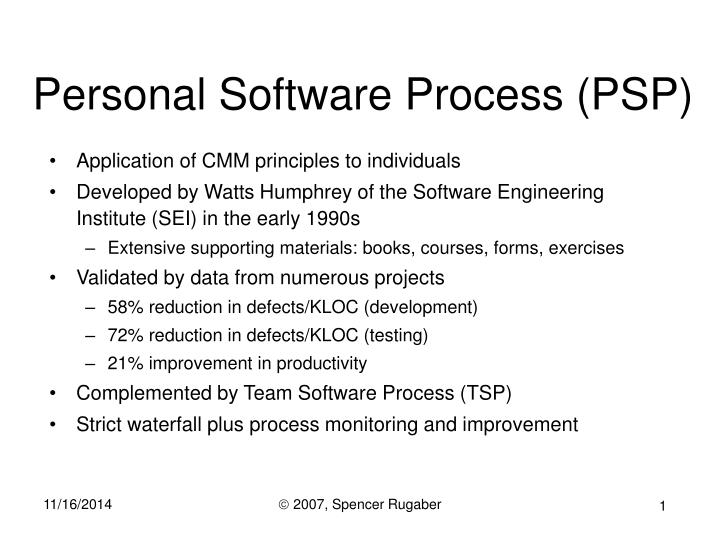 personal software process psp n.