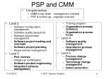 psp and cmm